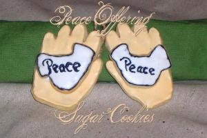 "This picture has nothing t do with the recipe. It came up on a google image search for ""peace offering cookies."""