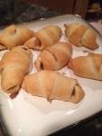 Prosciutto and fig preserve roll-ups